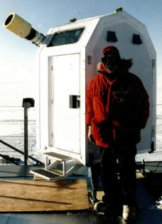 Environmentally Controlled Portable Astronomical Observatory: Set up at the Amundsen-Scott South Pole Research Station.